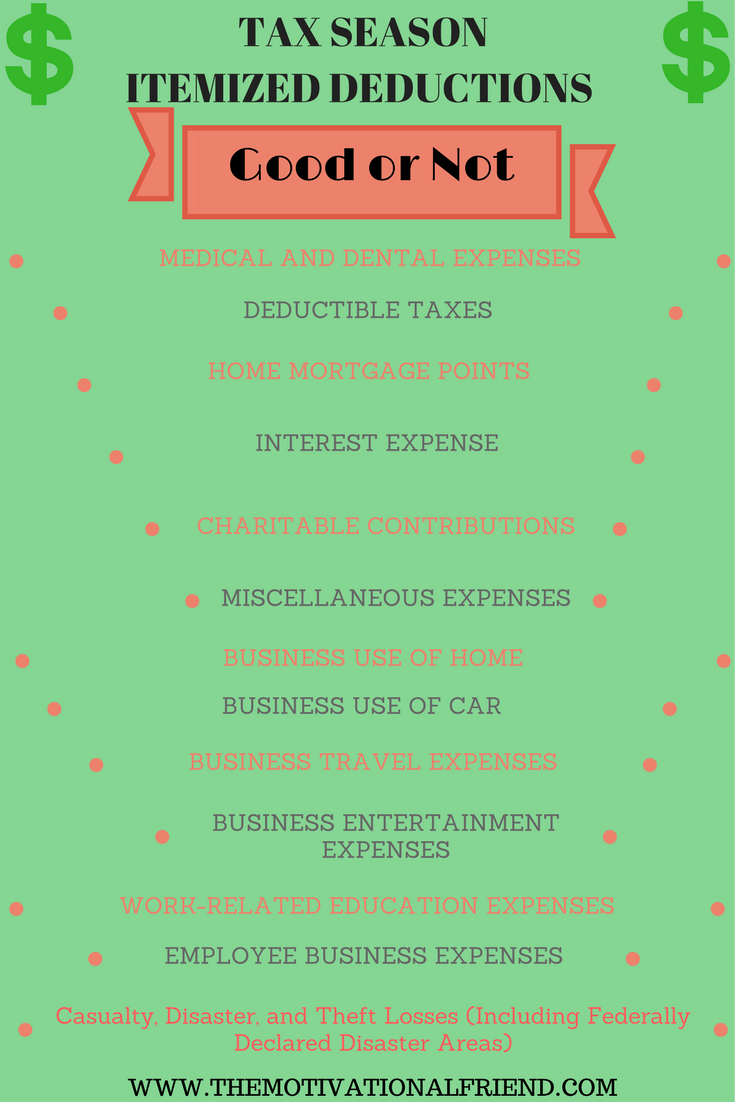 TAX SEASONITEMIZED DEDUCTIONS VS STANDARD DEDUCTIONS
