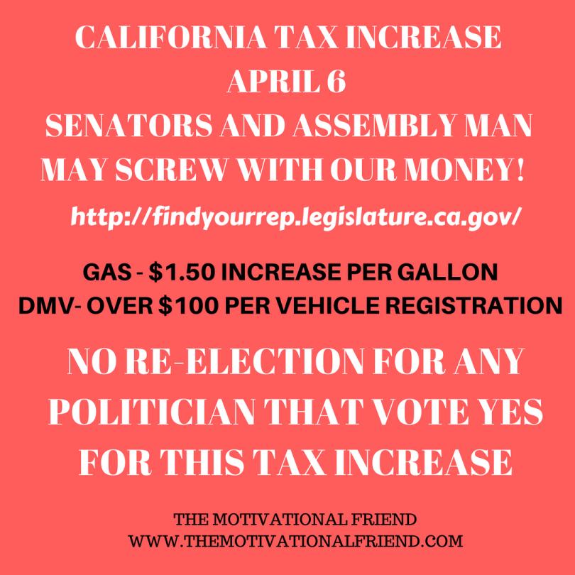 CALIFORNIA TAX INCREASE